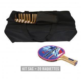Kit di racchette (borsa + 20 racchette) Sporti France Shooter