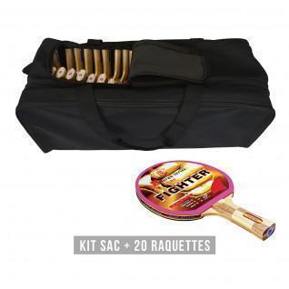 Kit di racchette (borsa + 20 racchette) Sporti France Fighter