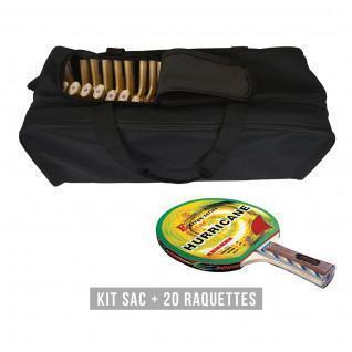 Kit di racchette (borsa + 20 racchette) Sporti France Hurricane