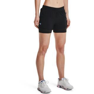Pantaloncini 2 in 1 da donna Under Armour Iso-Chill Run