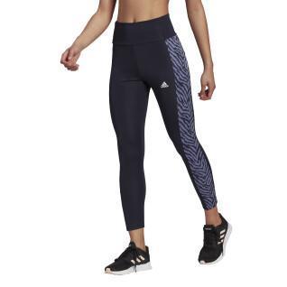 Collant da donna 7/8 adidas High-Rise Sport Zebra