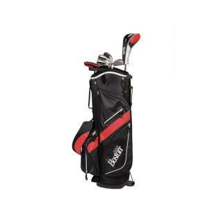 "Kit (borsa + 8 mazze) per mancini Boston Golf deluxe 8.5"" 1/2 série"