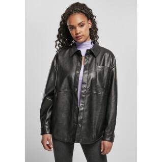 Camicia da donna Urban Classics faux leather over
